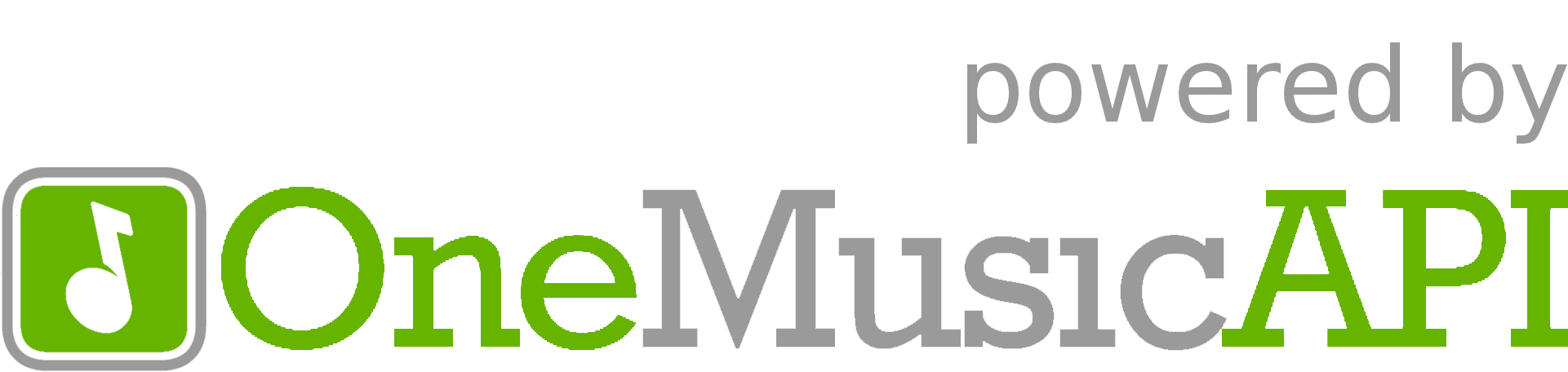 Powered by OneMusicAPI logo
